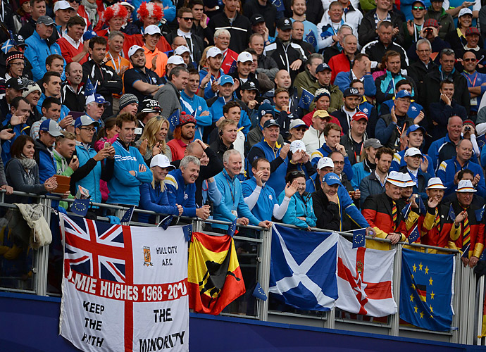 European fans came out in droves to watch their team secure the win.