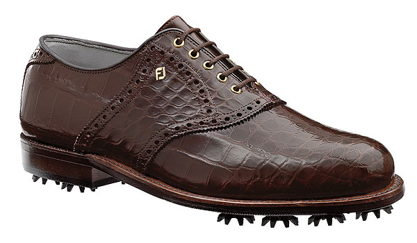 FootJoy Classics Custom Exotics2                       $2,795, footjoy.com                       As luxurious as it gets, these shoes are available in alligator, lizard and ostrich, and in various shades of tan, brown and black. Show up at a Tour event wearing these and even Ian Poulter will take notice. Complete Holiday Gift Guide