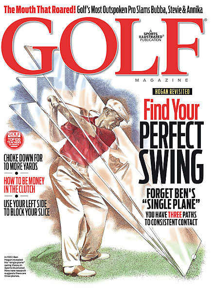 FEBRUARY A drawing of the late, great Ben Hogan graced the cover.