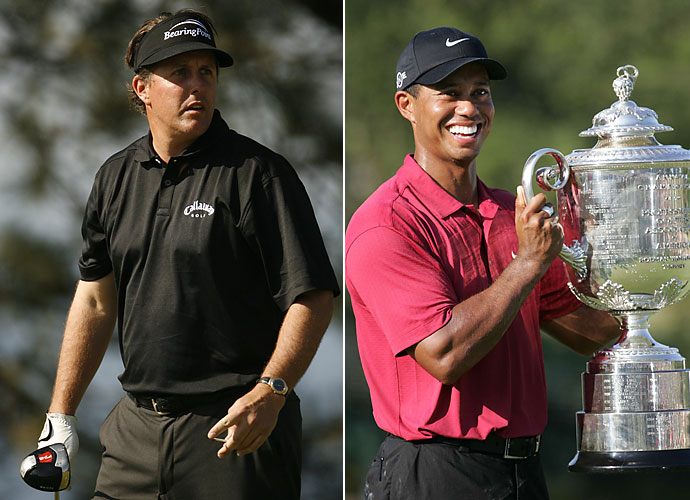 2007                                 Tiger Woods wins seven events, raising his career total to 61. Of those were the PGA Championship and the Tour Championship. Mickelson wins three more times, raising his career total to 32 with wins Pebble Beach, the Players and the Deutsche Bank. However, he spends 2007 major-less.                                                                   World News: The minimum wage in the United States is raised from $5.15 to $5.85, the first increase in 10 years.