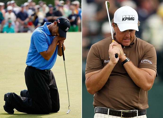 2009                                 Phil Mickelson records another runner-up finish in the U.S. Open, and wins four times including two WGC events, but yet again, fails to win another major. Tiger Woods' season goes according to plan, winning six times, though he failed to win a major for the first time since 2004. In November, Woods' infidelities become public, causing the loss of several endorsement deals.                                                                  World News: US Airways Flight 1549 safely lands in the Hudson River.