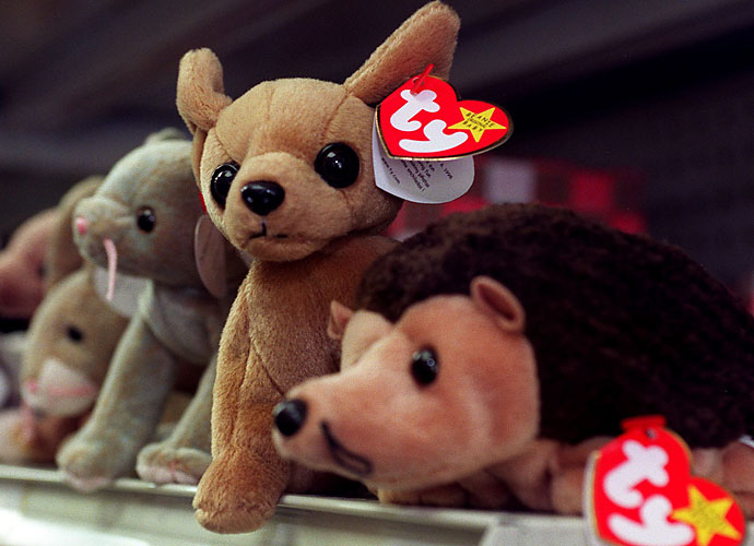 The hot toy of 1993, which continued to gain popularity through the 1990s was the Beanie Baby. All sorts of animals, both fictitious and real, were made by Ty Inc. and spread across the world.