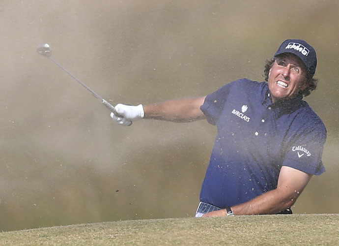 """Mickelson began his 2013 British Open with a 2-under 69, good for ninth place. He wasn't happy with the course setup, though, blaming the R&A for being too egotistical. """"We've got (to) let go of our ego sometimes and just set the course up the way the best players can win,"""" Mickelson said. He would follow that up by dropping out of the top 10 the next day."""