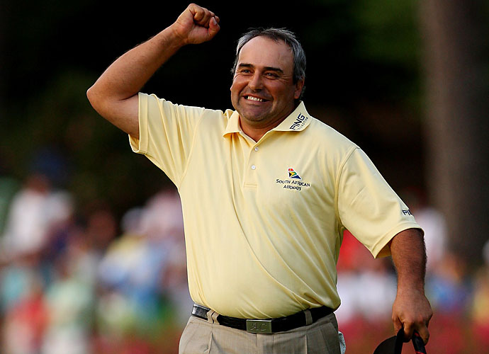 Defensive Tackle                           Angel Cabrera                           Cabrera on top of his game can be as menacing as it gets. El Pato is quiet but continues to strike throughout any event. Plus, he already looks mid-swim move in this photo from the Masters.