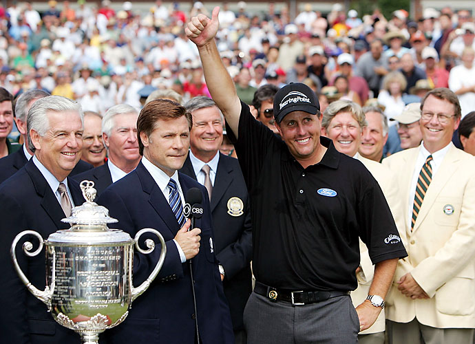 2005                                 Phil Mickelson builds off his impressive 2004 with four victories in 2005, which included his second career major at the PGA Championship.