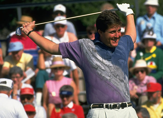 1993                                   Phil Mickelson wins both the Buick Invitational and The International tournaments. His best move, however, comes in hiring Bones Mackay as his caddie, who continues to carry Mickelson's bag today.                                                                       Pop Culture: Jurassic Park is released in June and eventually grosses $357 million in the United States and Canada.