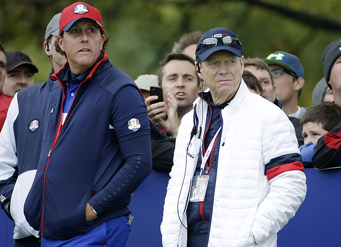 """Mickelson was a member of that memorable 2008 Ryder Cup squad that upset the favored Europeans. To Phil, a few things about 2014 didn't match up with what worked in 2008.                        """"There were two things that allow us to play our best I think that Paul Azinger did, and one was he got everybody invested in the process. He got everybody invested in who they were going to play with, who the picks were going to be, who was going to be in their pod.""""'                       """"And the other thing that Paul did really well was he had a great game plan for us, you know, how we were going to go about doing this."""""""
