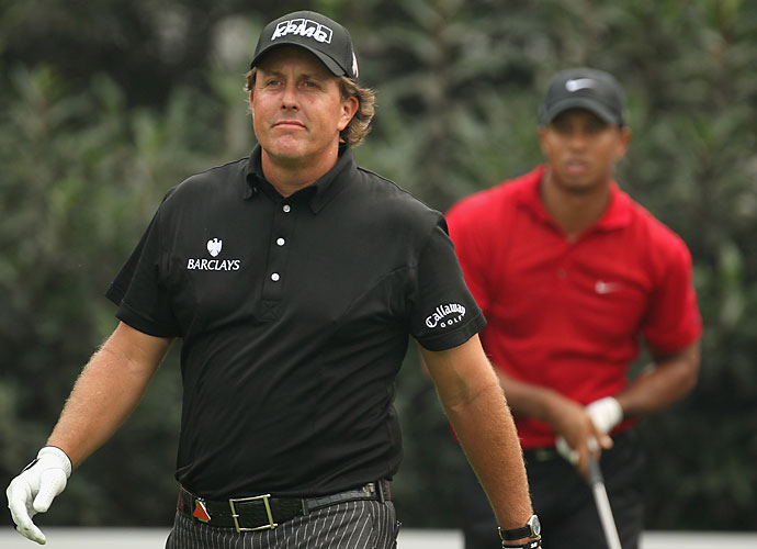 "Mickelson's career has always been compared to that of Tiger Woods, and in 2003, before he had even won a major championship, Mickelson vocalized his own comparisons.                       ""In my mind, Tiger and I don't have issues between us,"" Mickelson said. ""Well, maybe one. He hates that I can fly it past him now [off the tee]."