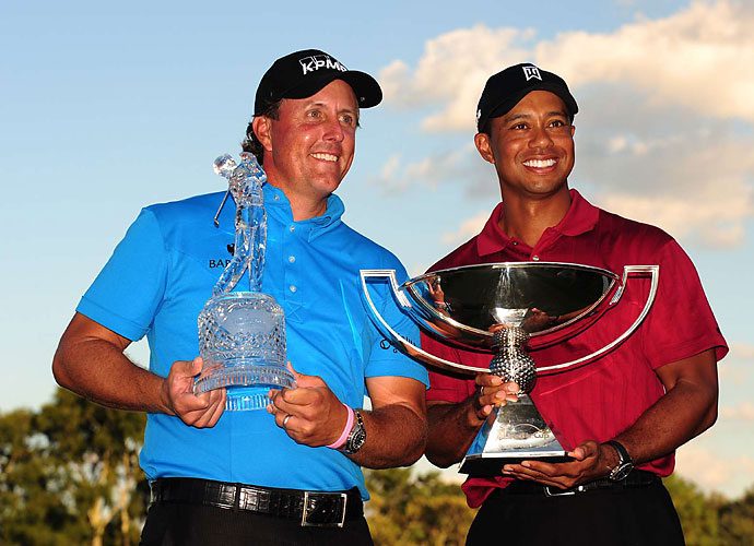 """Also in 2003, Mickelson called out Woods' equipment company, Nike, saying that the sports brand was holding Woods' game back.                           """"He has a faster swing speed than I do, but he has inferior equipment. Tiger is the only player who is good enough to overcome the equipment he's stuck with."""""""