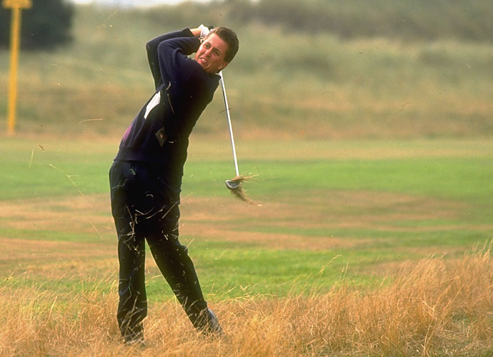 "Mickelson got an early start putting his foot into his mouth as an amateur competing in Ireland on the United States Walker Cup team, joking about the attractiveness of Irish women.                            ""That's not a place I want to be,"" Mickelson said, referring to a shot out of the long fescue near the gallery at Portmarnock Golf Club. ""The Irish women are not that attractive."""