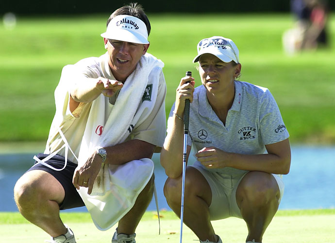 Terry McNamara                       Only one name comes to mind regarding successful LPGA caddies and that's McNamara. He was the longtime caddie for Annika Sorenstam, the most successful female golfer in the modern era. McNamara's impressive results with Sorenstam didn't keep him from the chopping block, however, as young Jessica Korda parted ways with him very early in her career.