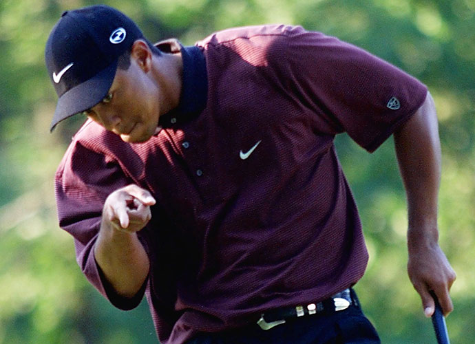 2000                                 Tiger Woods completes the career Grand Slam with wins at the U.S. Open (by a record 15 shots), British Open and PGA Championship. He finished with another eight wins in what's widely consider the greatest golf season of all time.                                                                   World News: George W. Bush is elected president.