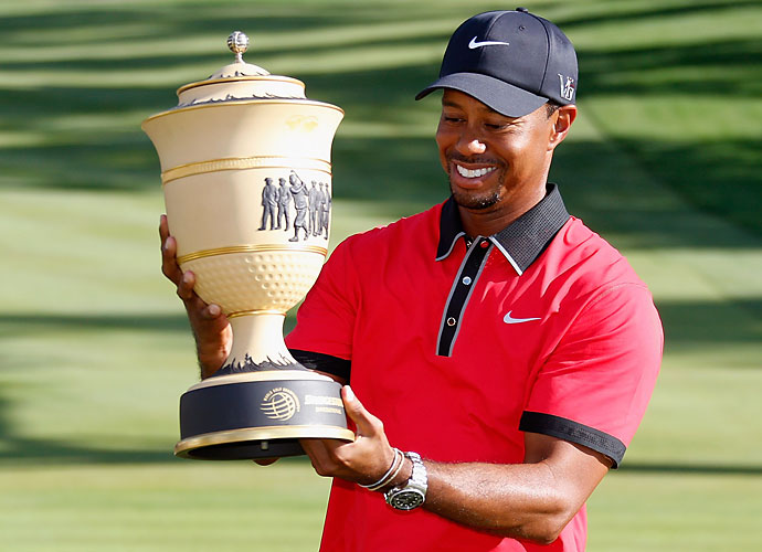 2013                                 Woods wins five events including the WGC-Cadillac, WGC-Bridgestone and the Players, but fails to win a major for the fourth consecutive season. As time continues to work against him, Woods' career 14 majors looks further and further from Nicklaus' career mark of 18.                                                                  World News: Revolutionary political figure Nelson Mandela dies at the age of 95.