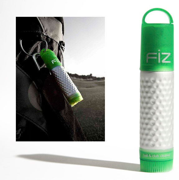 Fiz                           fizgolf.com, $10                           A button on the top of the canister releases a small amount of cleaning agent for your ball or clubface. With the built-in bristles, you can easily remove dirt, mud or anything else that will get in the way of torching your club's course record. One container is good for 350 sprays.