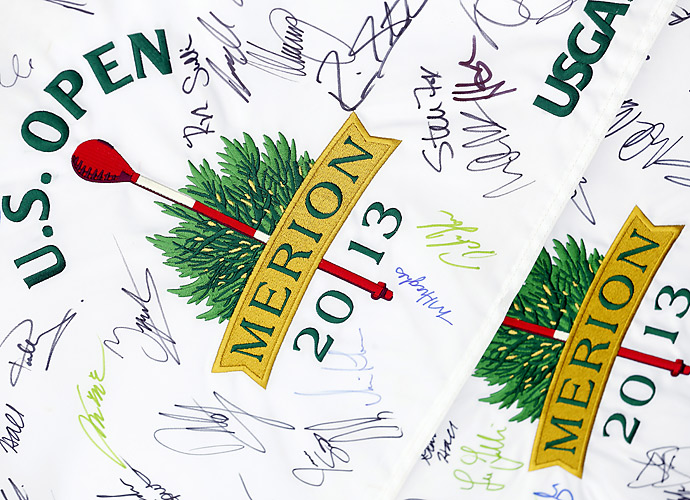 A few fans had great success getting pros to autograph their official Merion U.S. Open flags.