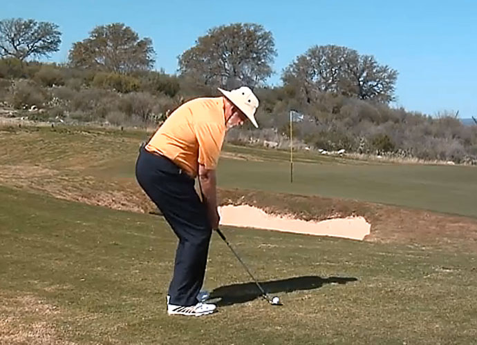 The Flop Shot                         Few shots stir fear in the heart of a golfer like the flop shot. The narrowest of margins separates a high, spinning beauty from a bladed disaster. It's safer to play for the middle of the green. But, if you must flop, here's how to do it, courtesy of short game guru Dave Pelz.