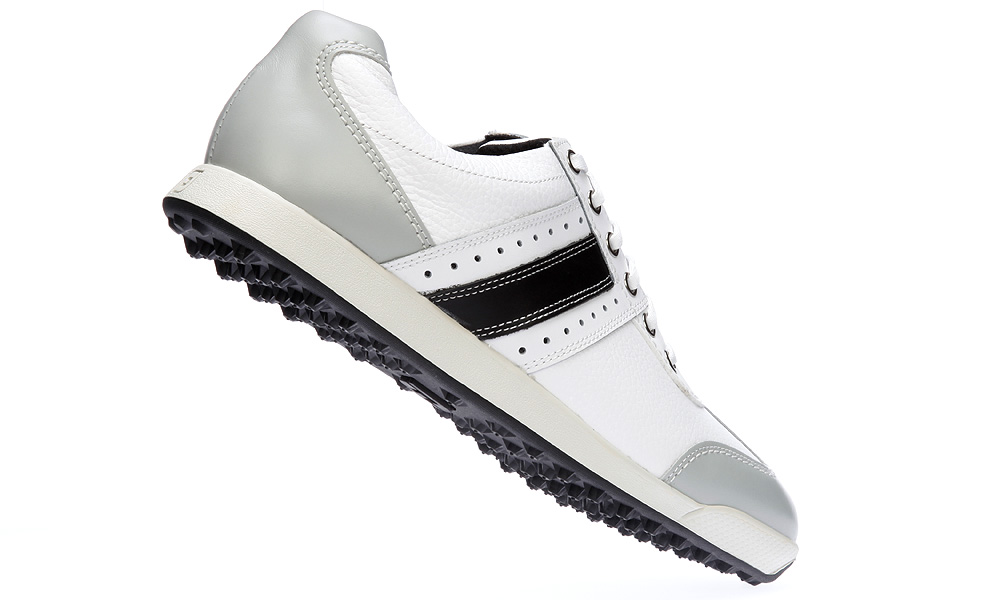 "FootJoy Contour Casual, $115                       footjoy.com                       This lightweight shoe comes in 47 length and width combinations. It's composed of soft, premium leather (one-year waterproof warranty) for wear on and off the course. The ""DuraMax"" outsole (a proprietary rubber compound) provides traction and stability."