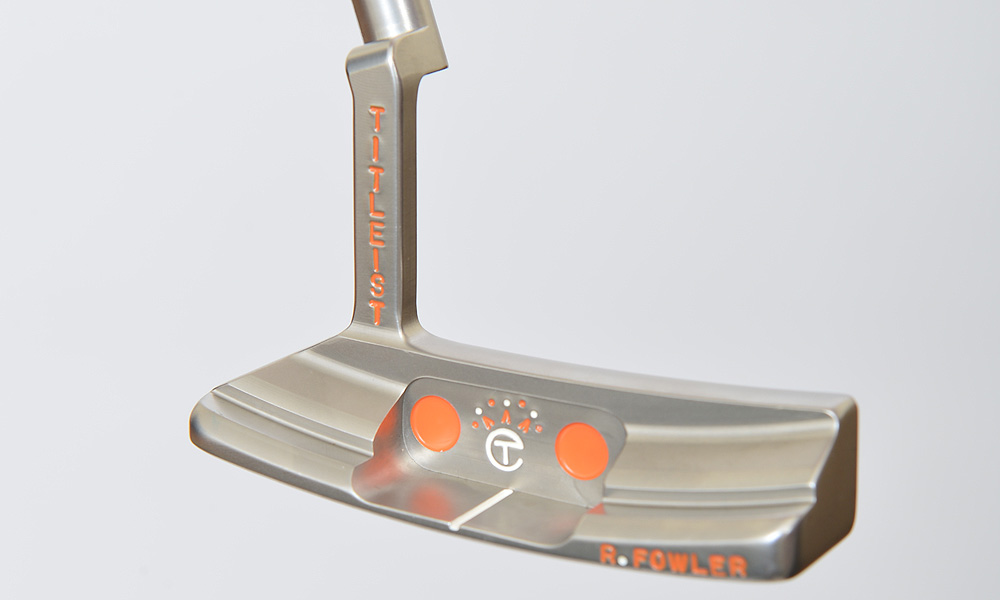 Although he won earlier this season using a Scotty Cameron for Titleist Select GoLo, Fowler has been using this Scotty Cameron Circa '62 No. 3 GSS prototype for the past several weeks. The GSS stands for German Stainless Steel.