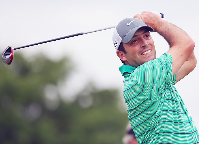 Italy's Francesco Molinari also finished the day at 3-under par through 13 holes. Molinari is a three-time winner on the European Tour seeking his first PGA Tour victory.