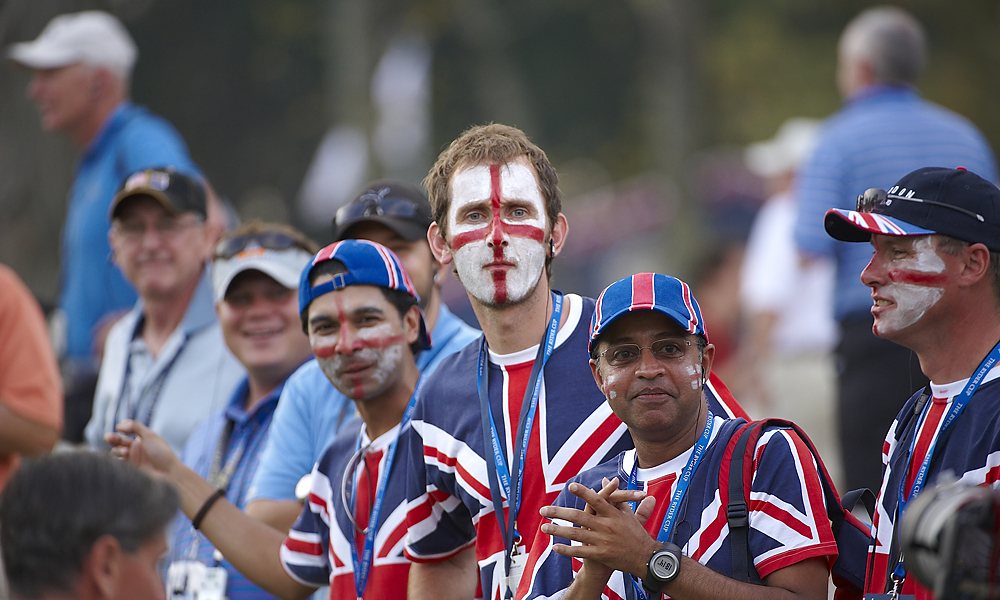 British fans had little to cheer for in 2008, but they dressed the part nonetheless.