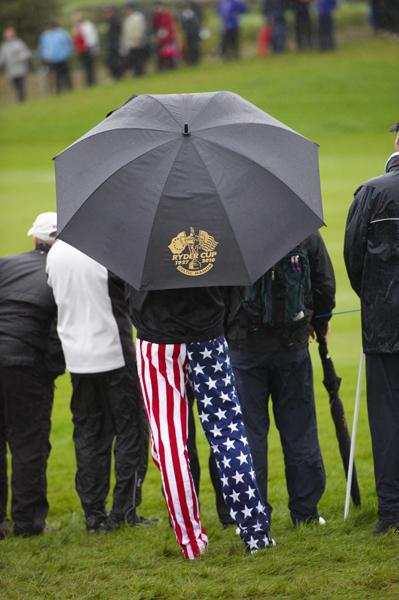 Rain or shine, fans pledge allegiance to their team.