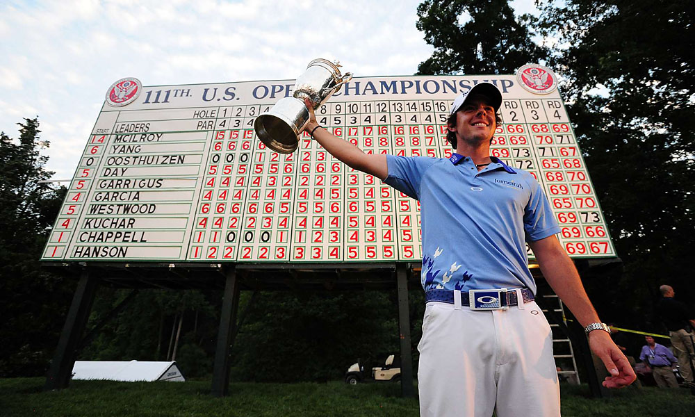 Rory McIlroy, 2011 U.S. Open: 8 shots                             McIlroy finished the 2011 U.S. Open at Congressional in a record 16 under par. He ran away from the field, beating Jason Day by eight.  Read More...