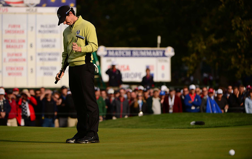 Rory McIlroy won his opening match Friday, but fell to Keegan Bradley and Phil Mickelson in the afternoon session.