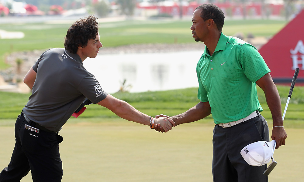 Woods and McIlroy played their first three rounds of 2012 together in Abu Dhabi, with Woods shooting 70-69-66 to McIlroy's 67-72-68. In the final round, however, Woods shot 72 to finish T3 while McIlroy shot 69 and finished second to Robert Rock.
