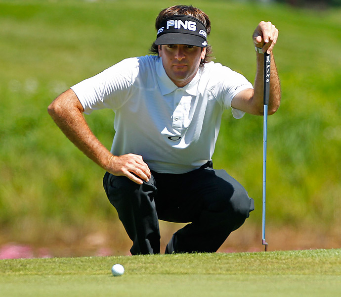 Bubba Watson made five birdies and one bogey while firing a four-under 68 on Thursday.