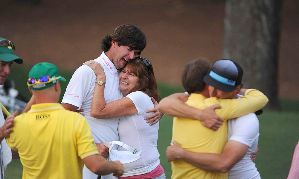 Bubba's sweeping wedge shot in the Masters was unforgettable, but I'll always remember the moments before and after he made the par putt that secured the victory. The are-you-kidding-me expression when he realized he needed only two putts to win, the care he took on the lag putt, the time he took to line up the tap-in, the extended hug with his Mom, and the celebration with his peers who had come out to watch the playoff. - Mark Godich