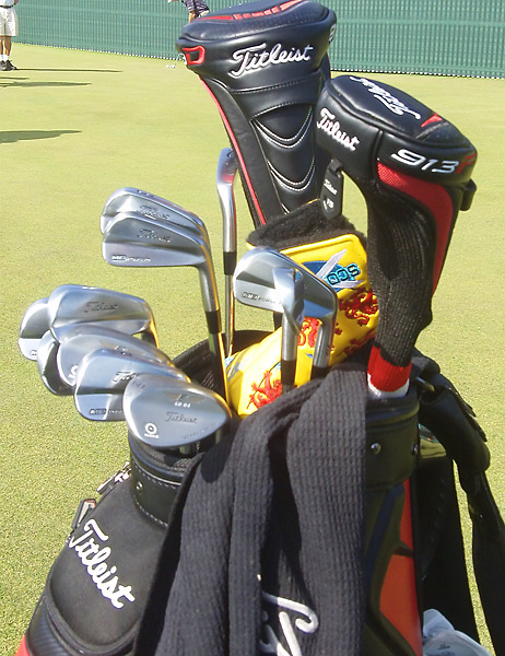 Rafael Cabrera-Bello is using Titleist Vokey Design SM4 wedges at Muirfield.