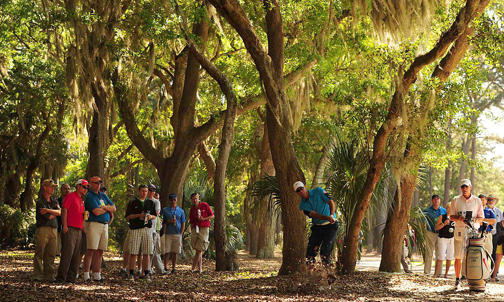 Stewart Cink played through the trees in the second round of April's RBC Heritage in Hilton Head, S.C.