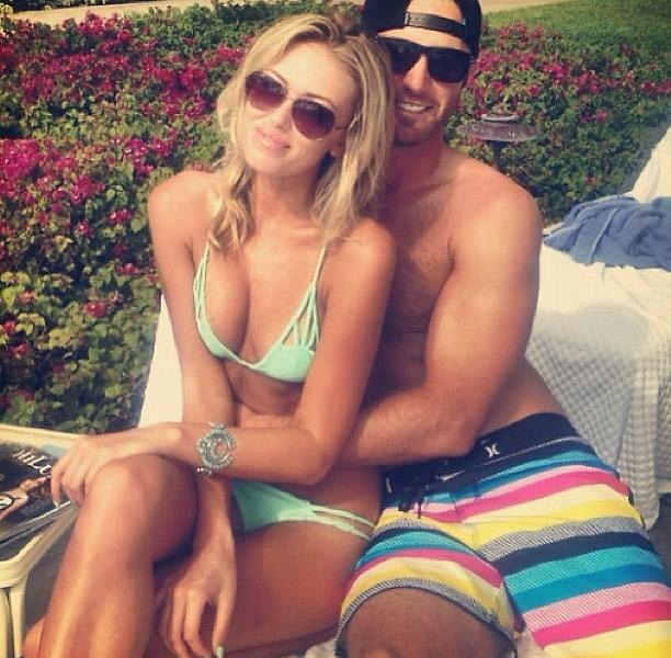 Paulina Gretzky and Dustin Johnson                                               The duo began tweeting photos of their relationship in January of 2013.
