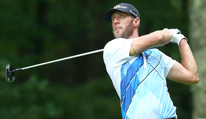 Graham DeLaet fired a nine-under 62 to pull into a tie for third place heading into Monday.
