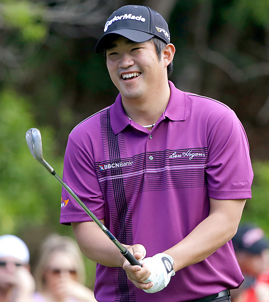 """""""I eat peanut butter and jelly because it's easy, or sometimes I go for one of those 10th Tee bars. Eating during a round needs to be convenient and not too heavy."""" --John Huh"""