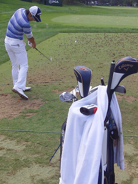 Ryo Ishikawa was on the Oak Hill range Tuesday practicing with his Callaway X Forged irons.