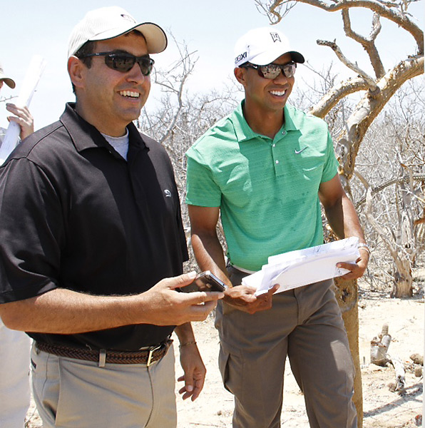 Woods with Ken Jowdy, the CEO of Diamante.