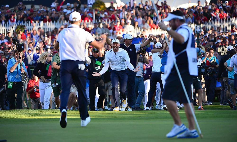 Sergio Garcia was the first to greet Martin Kaymer after Kaymer drained the clinching putt for Europe to complete an improbable comeback at the Ryder Cup in late September.