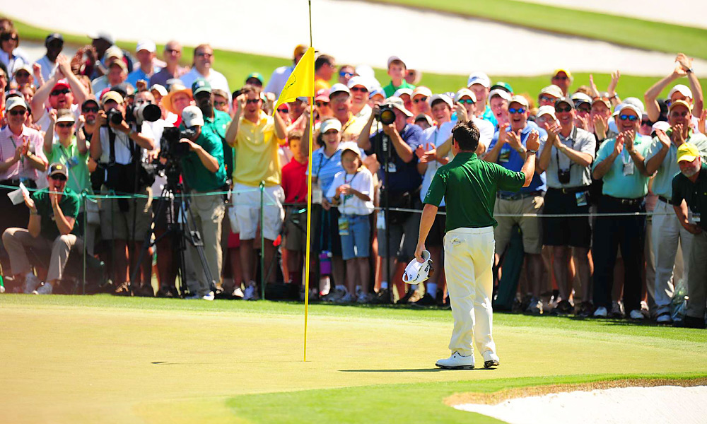 If Louis Oosthuzien had not made his double-eagle on No. 2, the first in Masters history on the hole, he would never have been in that playoff with Bubba Watson. Watching his ball land, release and track across the green was incredible. I was on the first green when it happened, watching Mickelson, and the roar was thunderous and long. - David Dusek