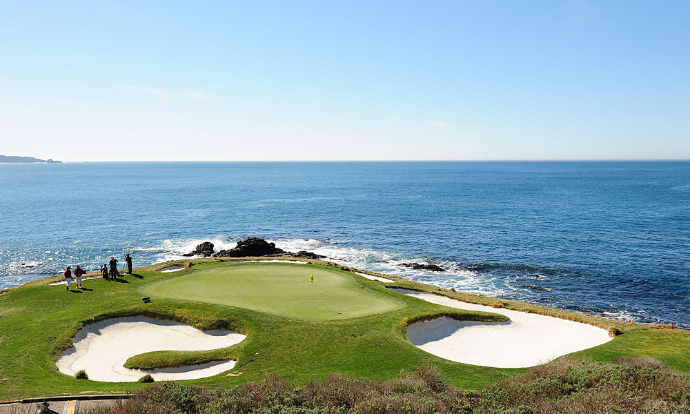 The famed par-3 7th hole.