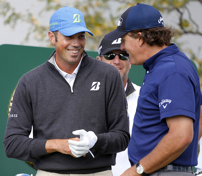 Mickelson was paired with Matt Kuchar, who stumbled to a 73.