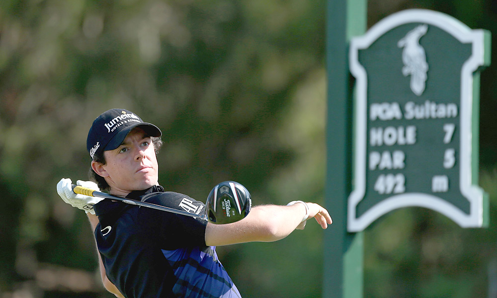 Rory McIlroy shot an opening-round 76 and fell to Matt Kuchar.