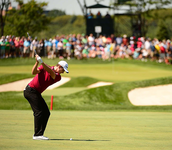 Justin Rose shot a 70 on Saturday and trails the leaders by five shots.