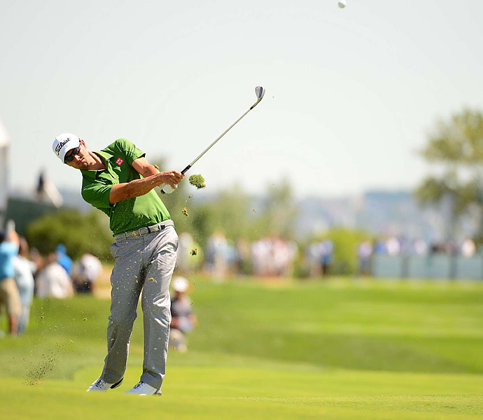 Adam Scott shot a one-over 72 on Saturday.
