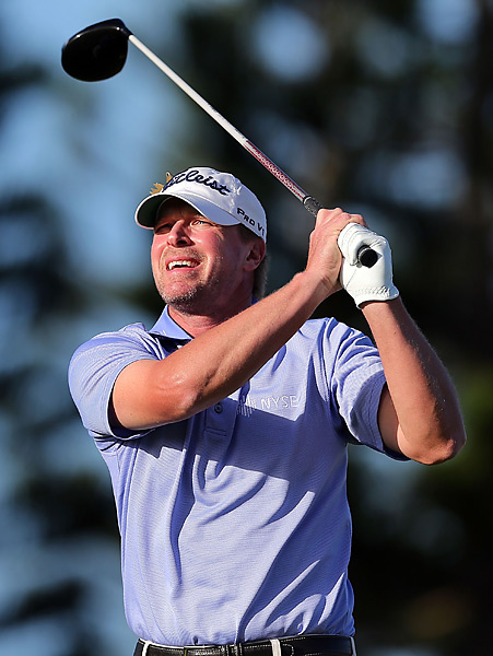 Steve Stricker was paired with Johnson in the final group. He shot a 69 to finish alone in second place.