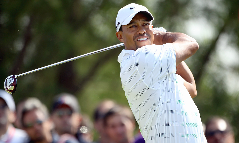 Woods was steady off the tee, and made no major, score-killing mistakes in the second round.
