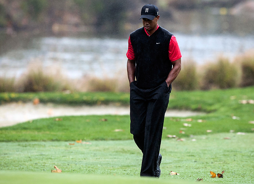 Tiger Woods was seeking his fourth title of 2012, but he shot a 71 to tie for fourth.