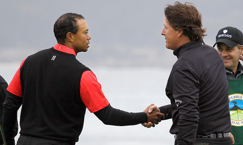 When Phil Mickelson dusted Tiger Woods in the final round at Pebble Beach, it felt like one of his top five career highlights even though there was no major hardware on the line. - Cameron Morfit
