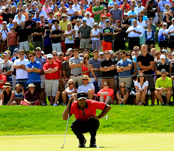 Woods will try to carry his game over to next week's PGA Championship, where he can win his first major title since 2008.