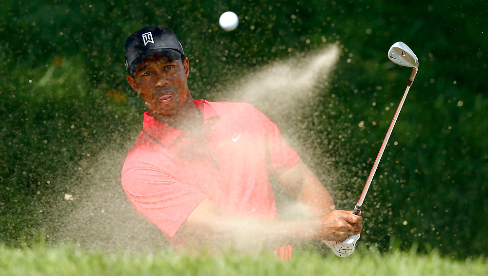 Tiger Woods was three shots back entering the final round.